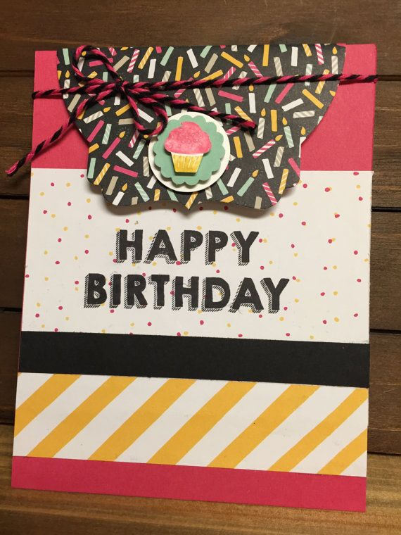 Stampin Up Party Wishes Handmade Birthday By Darlenesstampinspot