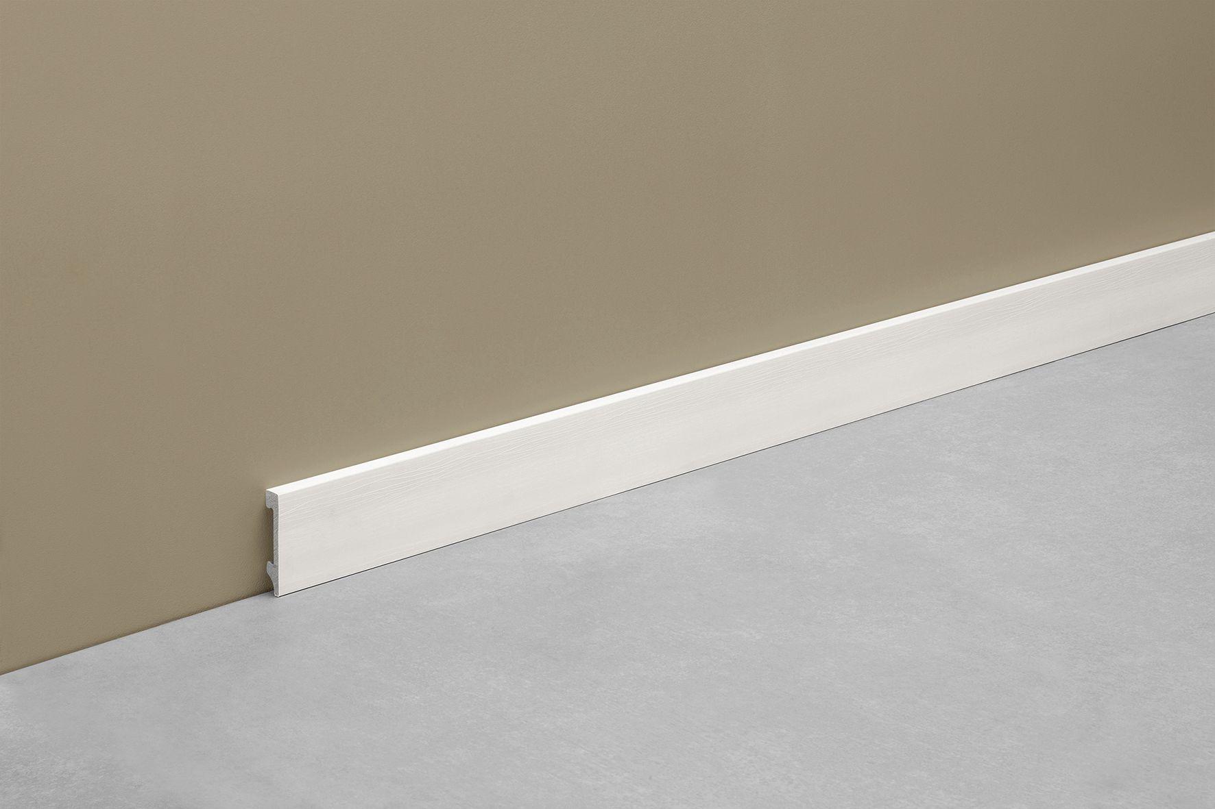 Zocalo Plain Simple Y Atemporal Altura 70mm Color Blanco