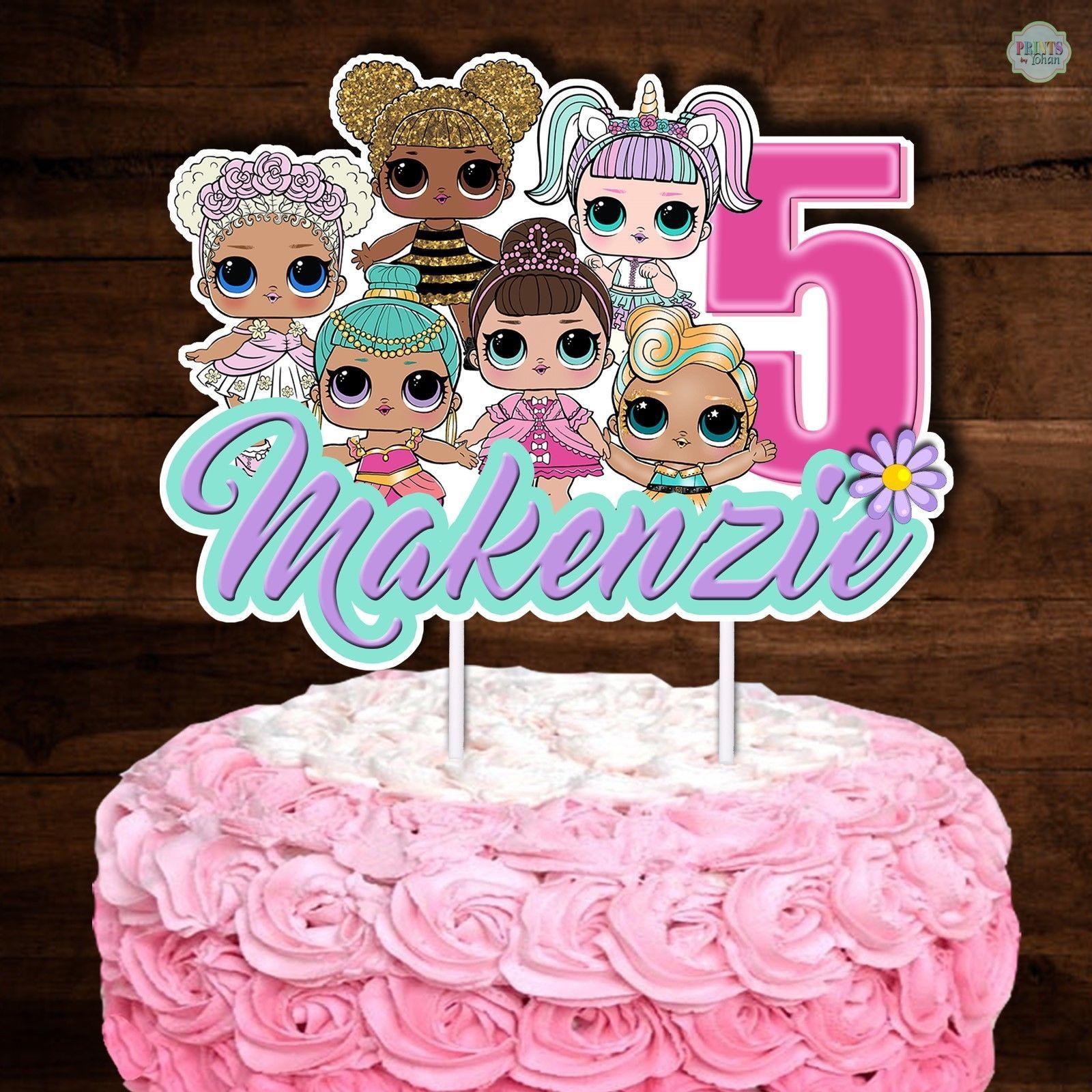 Lol Surprise Dolls Cake Topper Cake Bunting Cake Decorations Cupcake Topper Doll Cake Topper Doll Cake Creative Cake Decorating