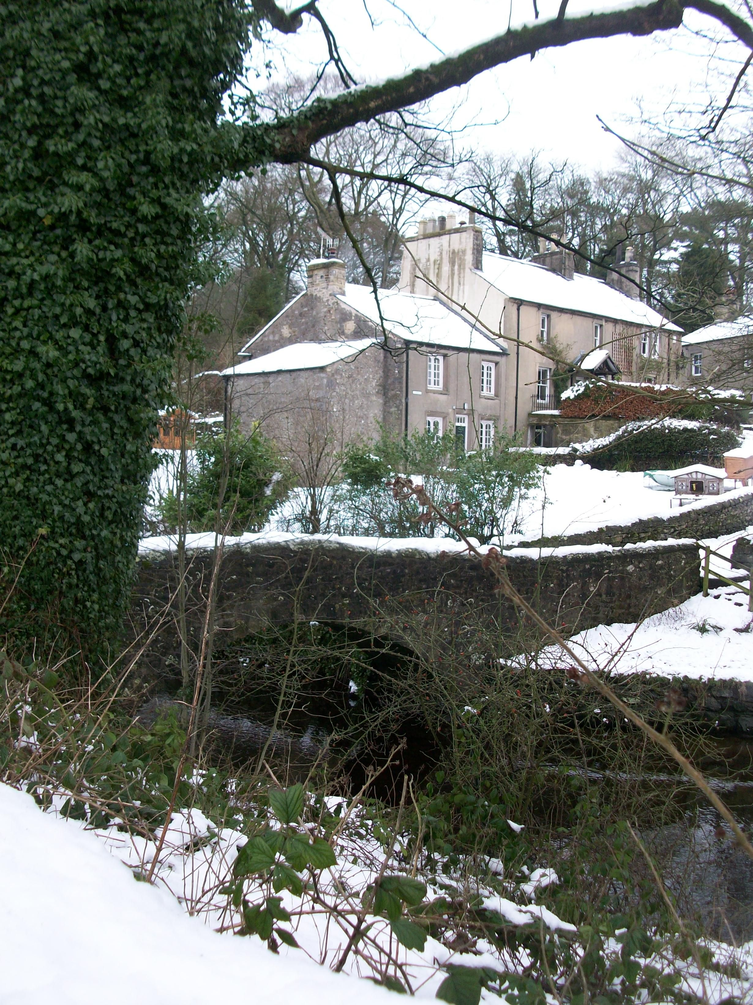 Clapham, Yorkshire In The Snow #Countryside#Hills #Yorkhire#England#Village#Cottage#Snow