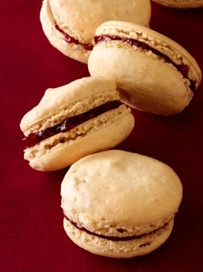 Peanut Butter Jam Macarons Recipe Food Network Recipes Macaroon Recipes Macaron Recipe