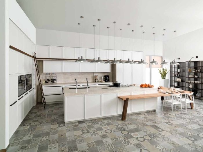 ▷ 1001 + alternative pour un revêtement mural de cuisine - Cuisine Moderne Avec Ilot