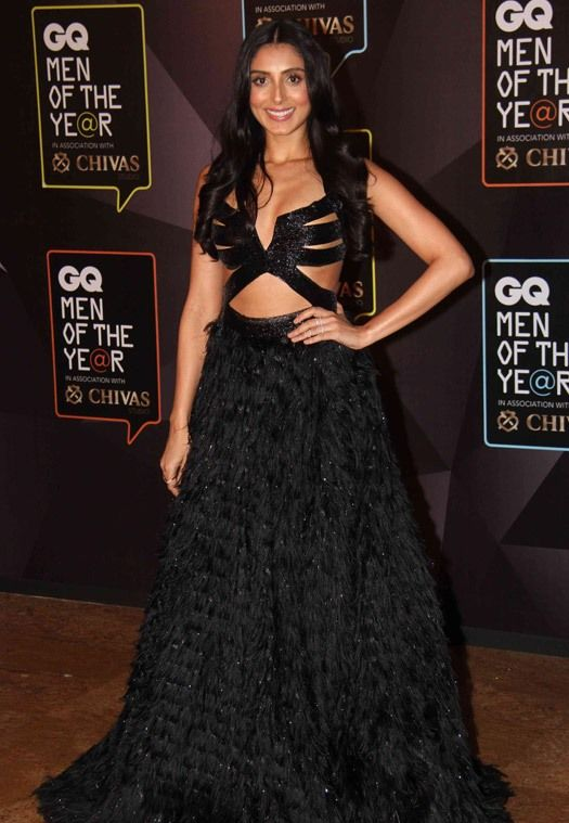 Pernia Qureshi in Black Cut Out Gown