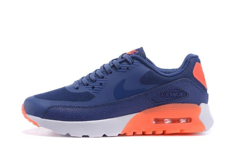 ccf32fe410d5 Nike Air Max 90 Ultra Essential Blue Orange Woman 724981-400