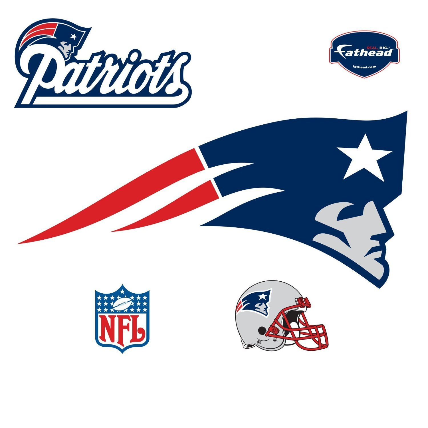 Nfl Football New England Patriots Wall Decal Up To Four Feet A Great Addition To Football Man Caves New England Patriots Logo England Patriots Logo Wall