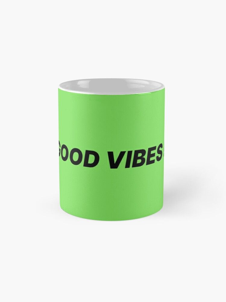 Mug T-shirt tendance mode Good vibes! par ohlandaise