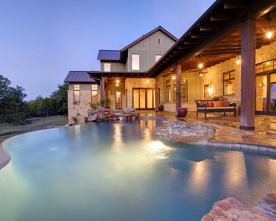 Architecture Awesome Infinity Pool Design Hill Country House Plans ...