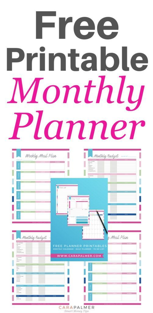 Free Monthly Planner Printables is part of Free monthly planner, Free printable monthly planner, Monthly planner, Printable planner, Planner printables free, Free planner - If you're a neat freak who loves organization as much as I do, this free monthly planner printables set is for you! The planner will keep you organized