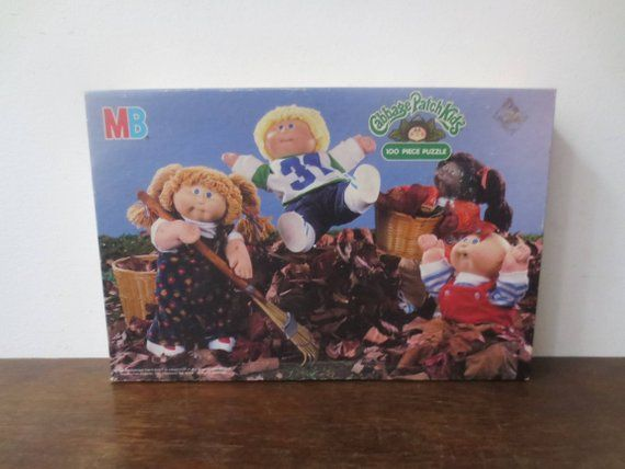 Vintage 80s Milton Bradley Cabbage Patch Kids 100 Piece Puzzle Never Opened Factory Sealed 1984 Cabbage Patch Kids Patch Kids 100 Piece Puzzles