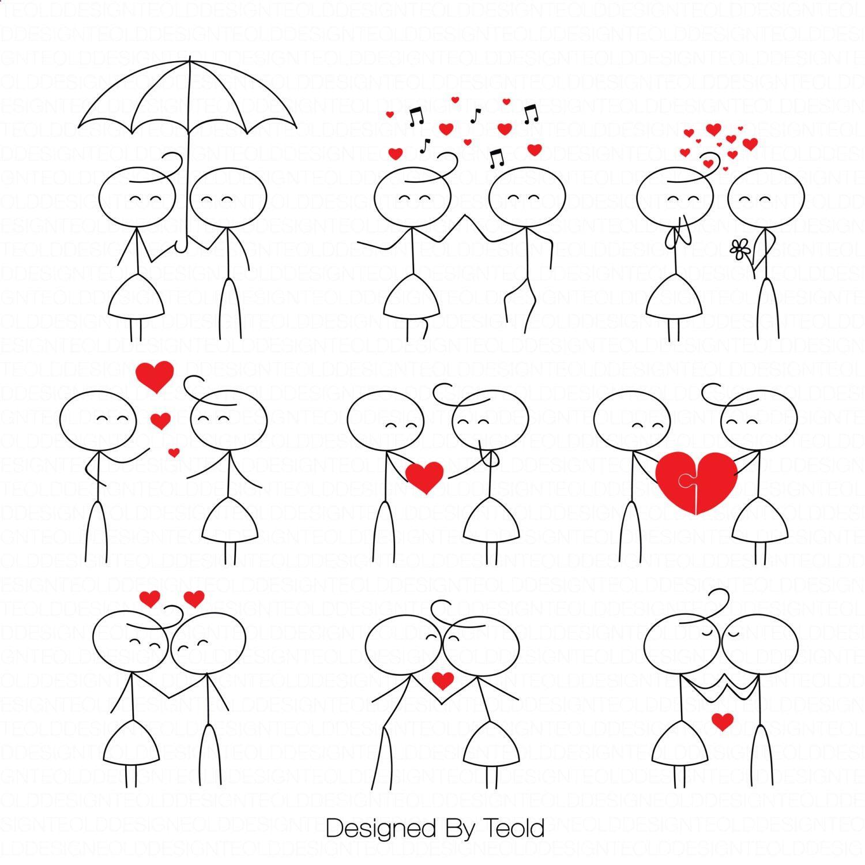 Stick Figure Clipart Clip Art Stick People Couple Clipart