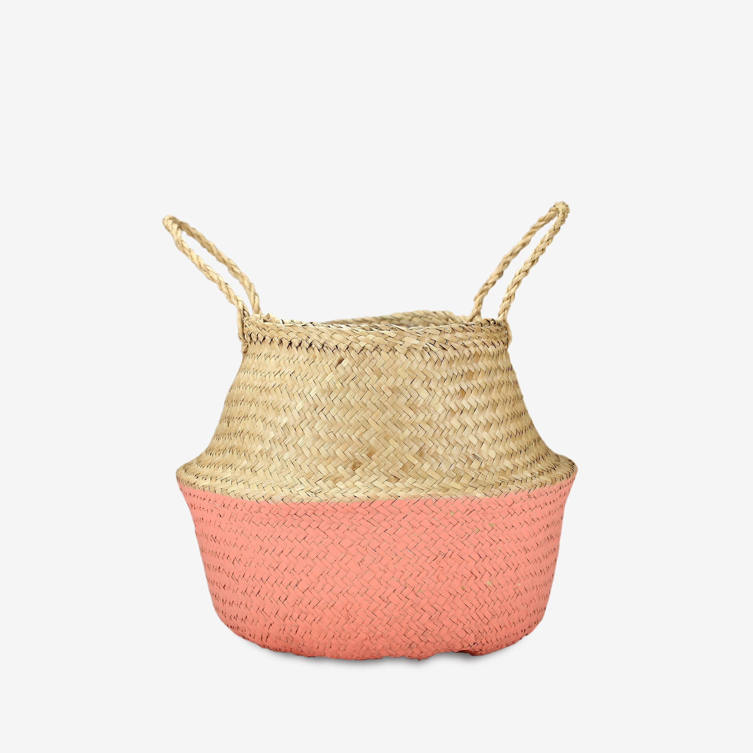 Small Dipped Belly Basket in Pink