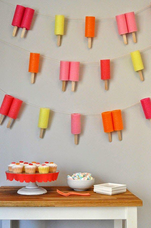Popsicle #Garland #Banner #Diy
