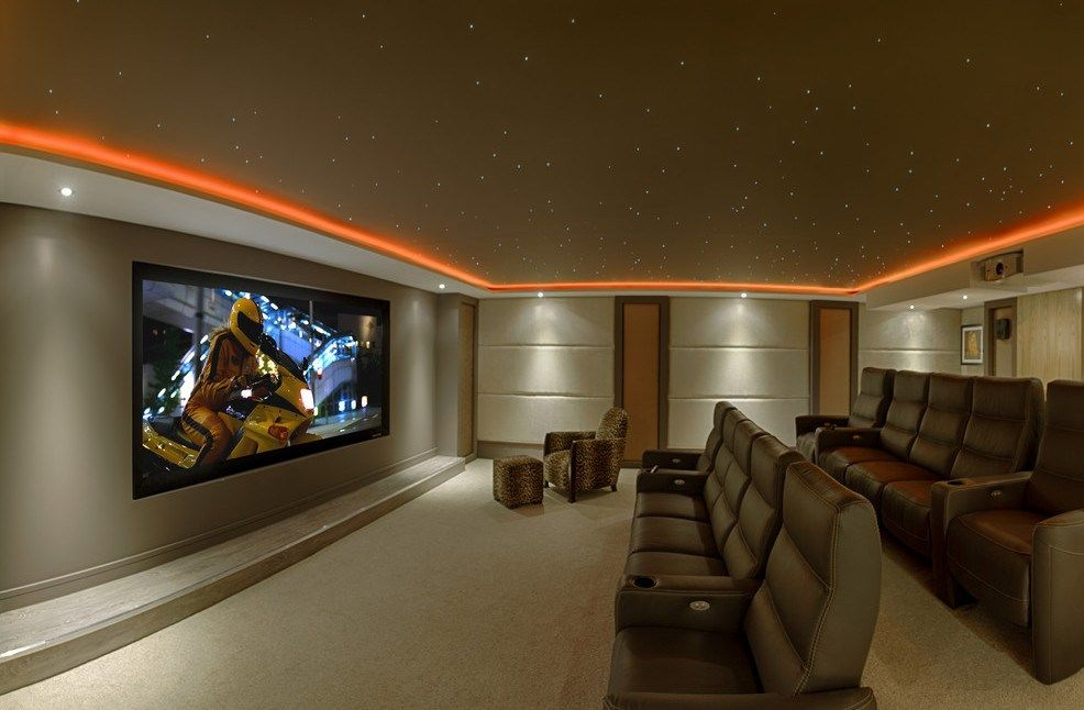 Movie Room Lighting Fancy Home Theater
