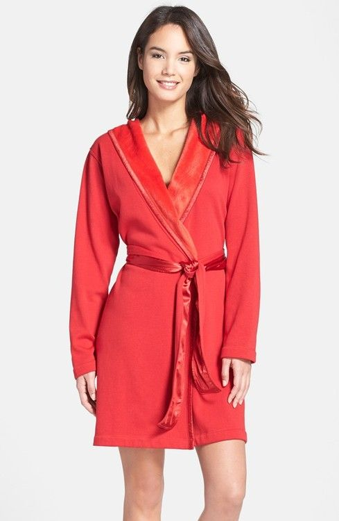 UGG Sofiee Hooded Robe Ribbon Red $95 IN STORE OR FREE SHIPPING  (Compare other stores at $110.00)