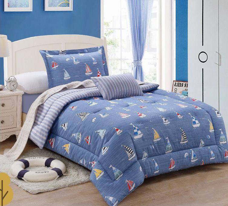 طقم لحاف Asters يأتي ب 5 قطع مقاس Comforters Bed Blanket