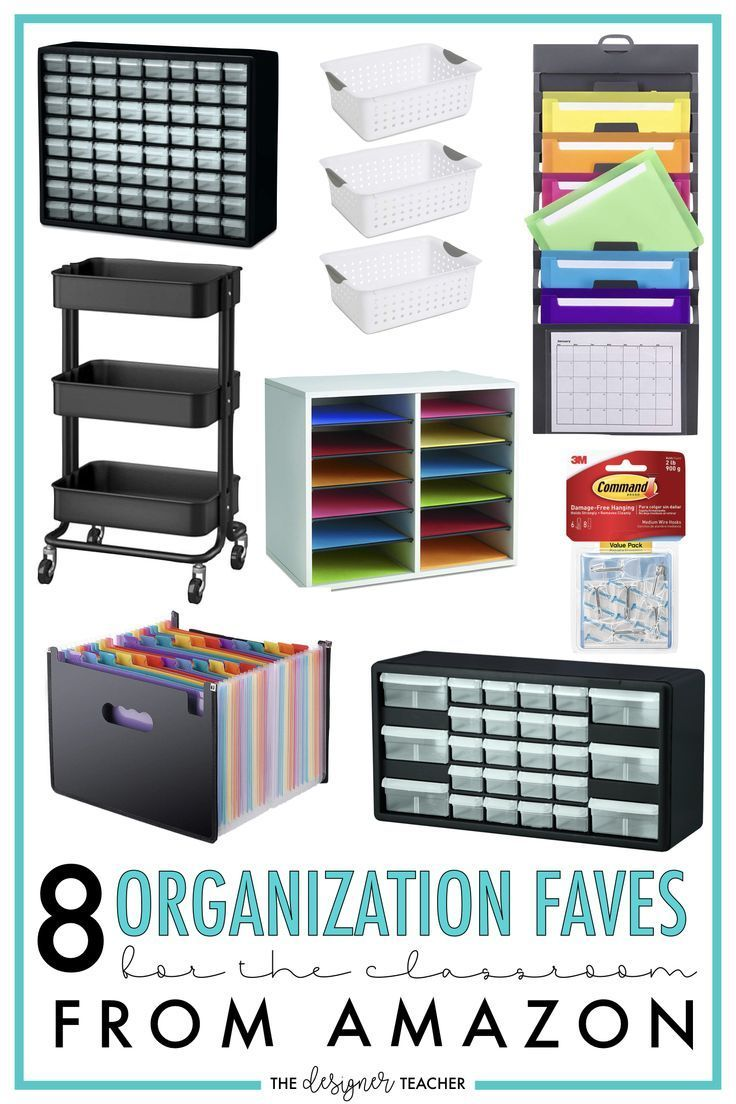 8 Organization Faves for the Classroom from Amazon — The Designer Teacher Check out my favorite t