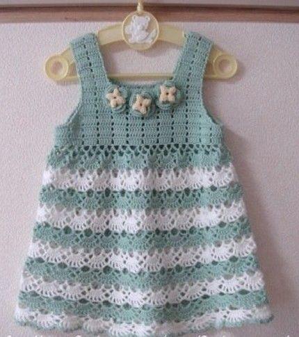 Adorable Little Girl Dress - Free Crochet Diagram (Crochet For ...