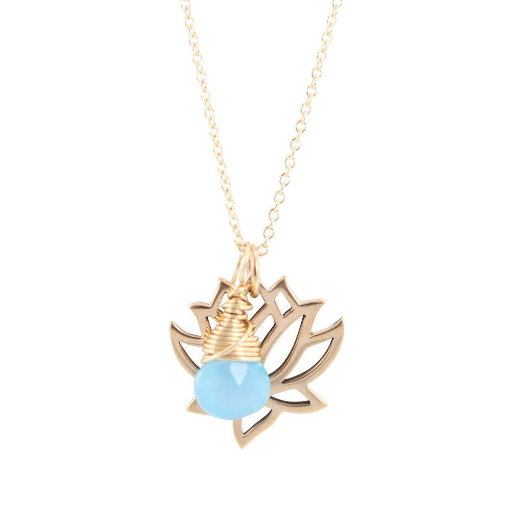Bronze lotus necklace with blue chalcedony briolette 6850 brz bronze lotus necklace with blue chalcedony briolette 6850 brz lotus flower meaninglotus izmirmasajfo