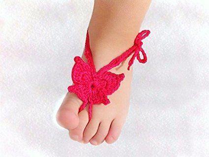 Free Crochet Butterfly Barefoot Sandals Pattern Crochet Baby Sandals Crochet Baby Barefoot Sandals Barefoot Sandals Crochet Pattern