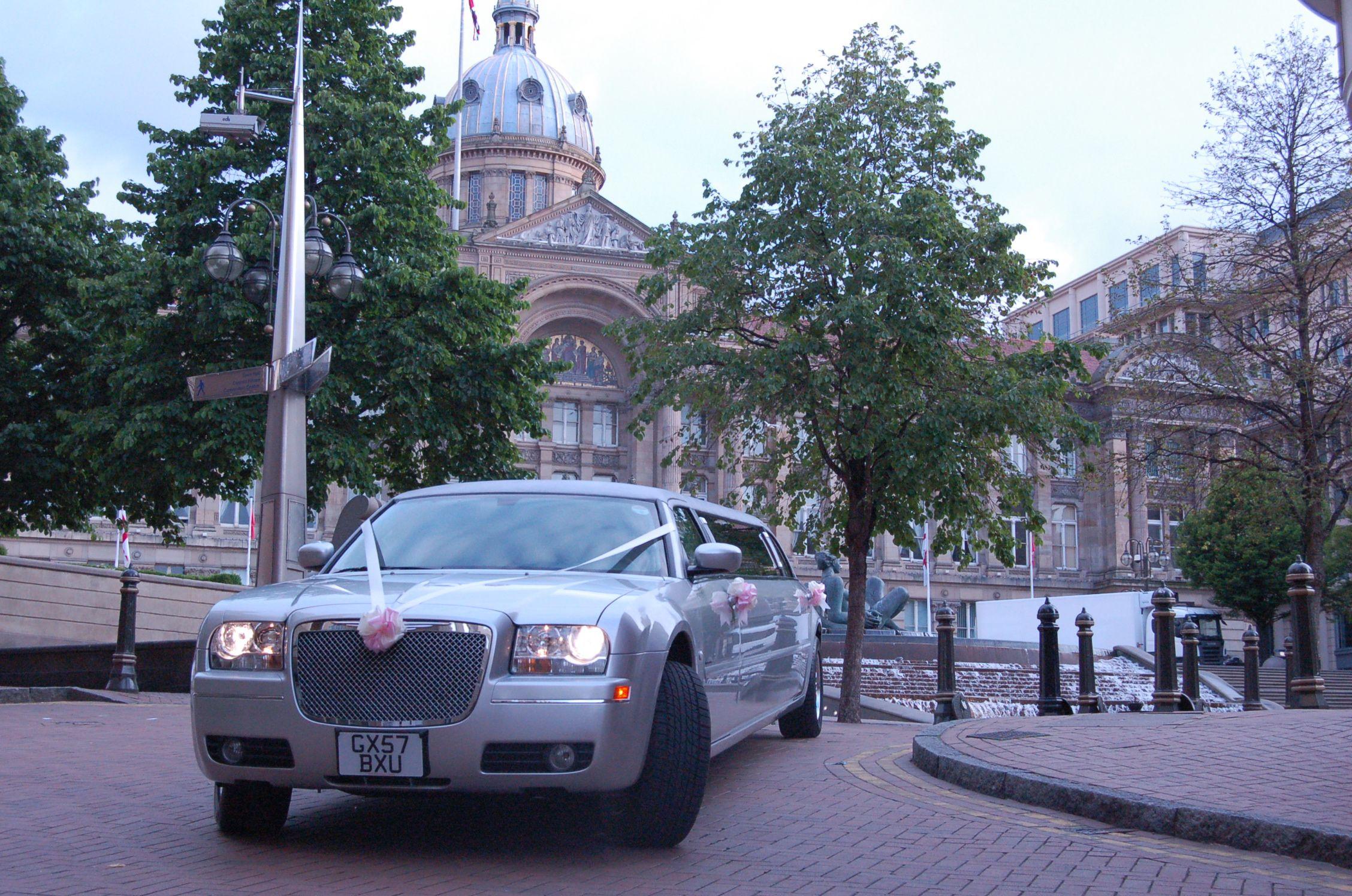 Wedding day arrival Birmingham City Centre | Limousines | Pinterest