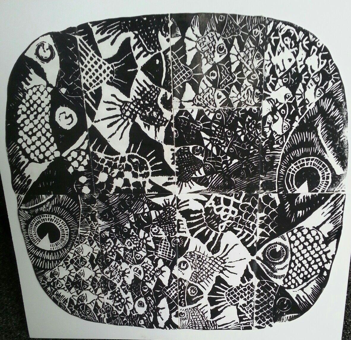 9th Grade Group Block Print
