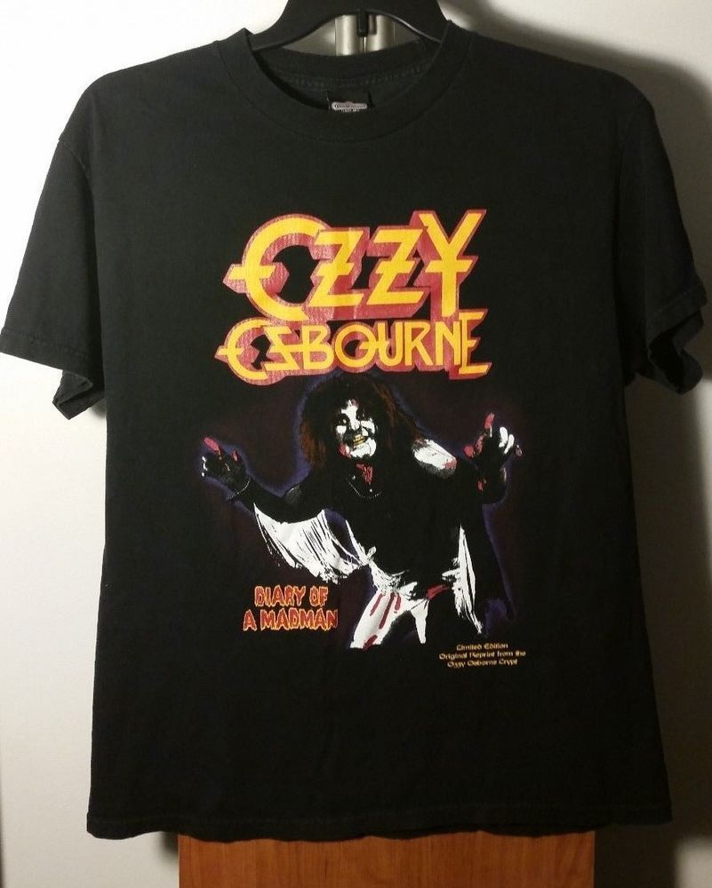New Ozzy Ozbourne Classic Black Vintage Concert Band T-shirt
