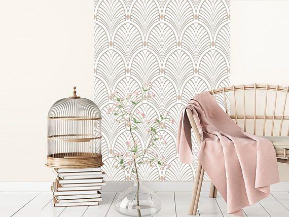 gatsby beige papier peint adh sif repositionnable deco. Black Bedroom Furniture Sets. Home Design Ideas