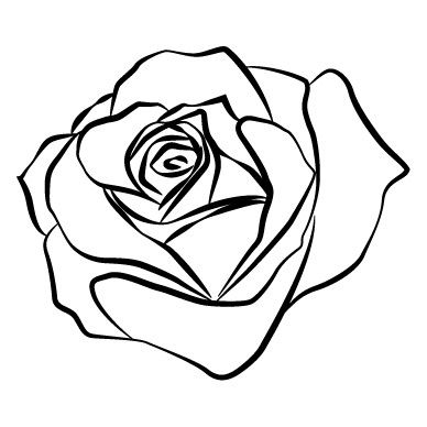 Rose Outline Rose Outline Tattoo Outline Drawing Rose Outline Drawing