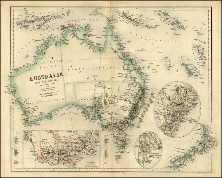 Detailed Map Of Australia New Zealand And The Solomons New - Map of australia and new zeland