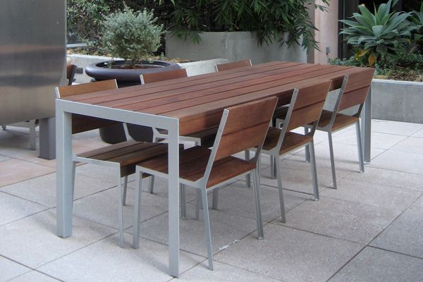 Etra Collection From Modern Outdoor In Silver And Ipe