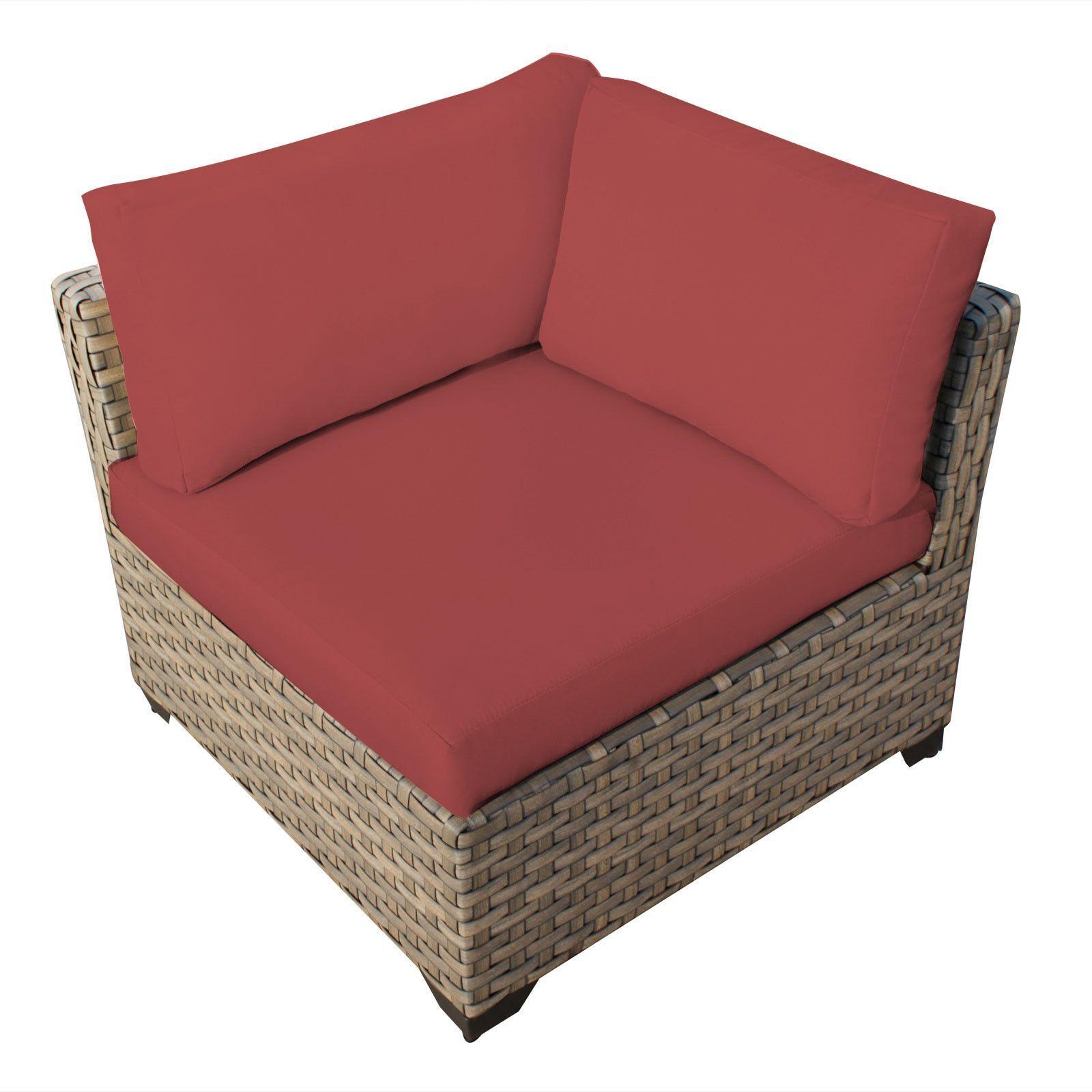 Tkc Monterey Corner Outdoor Patio Sofa Set Terracotta