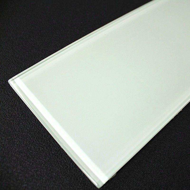 carreaux en verre crédence cuisine et salle de bain longo blanc 3,60