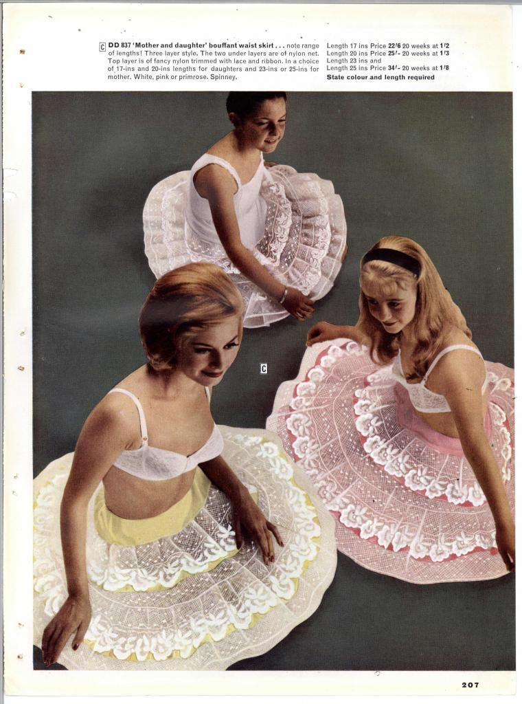 Vintage bra petticoat adverts