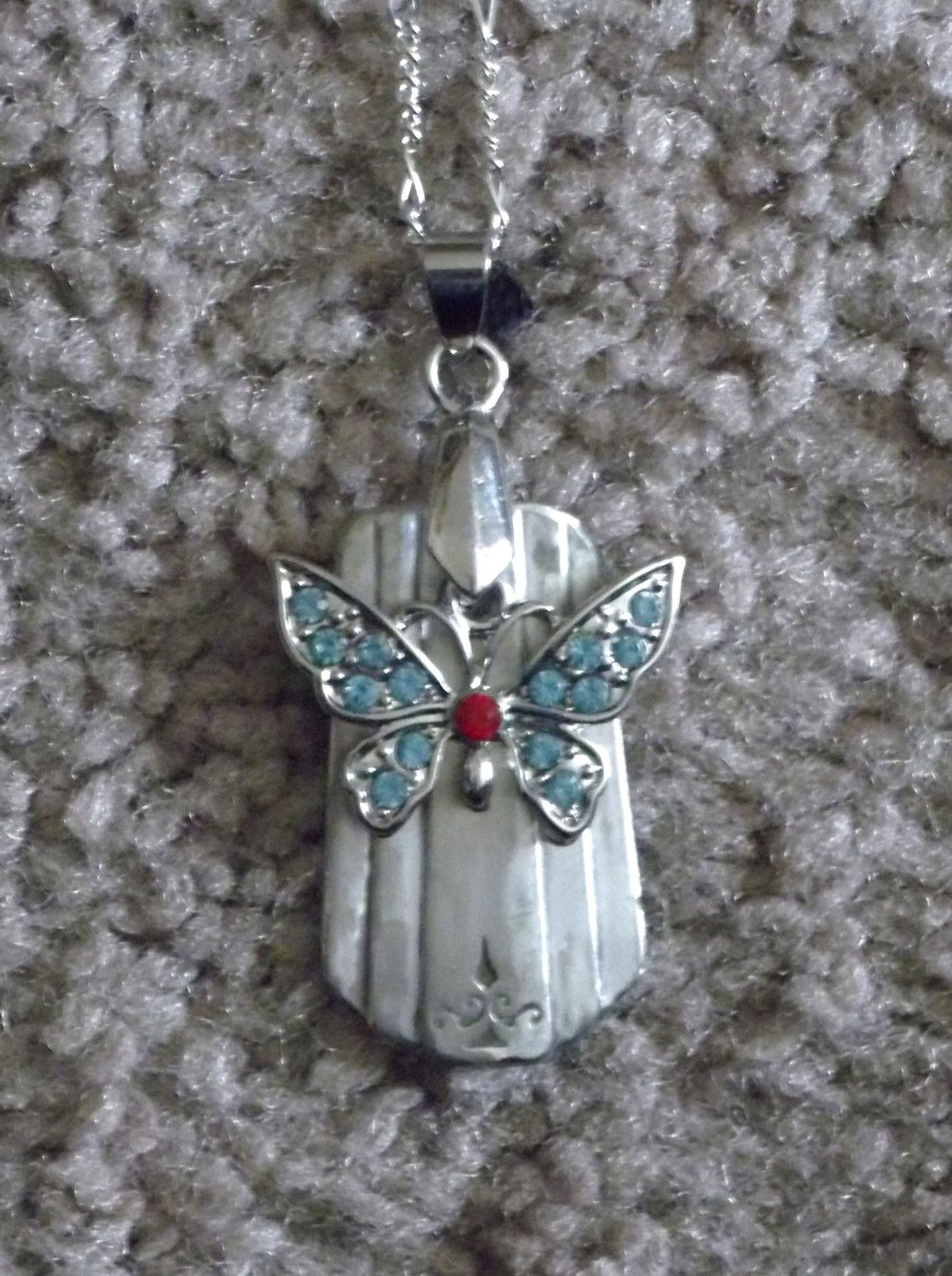 Simple Butterfly by LilBitsofJewelry on Etsy