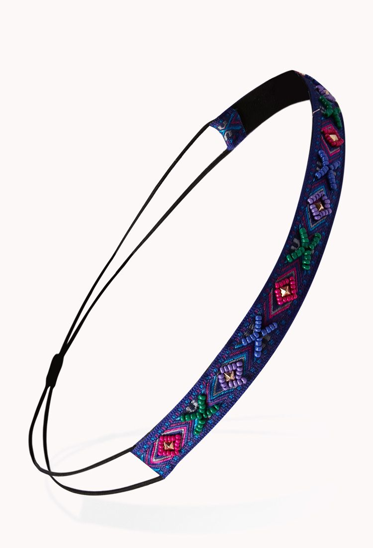 Böhmisches Haarband (With images)   Beaded headband ...