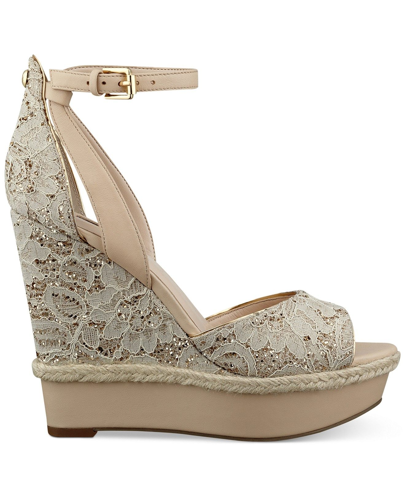ab6027068ada GUESS Women s Odin Ankle Strap Platform Wedge Sandals - Sale   Clearance -  Shoes - Macy s