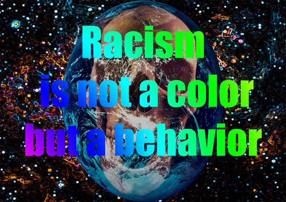 Deel uit het bundel 'krant van de ziel' van jackjohannes hemp alias jjhemp met het thema 'rasicme'