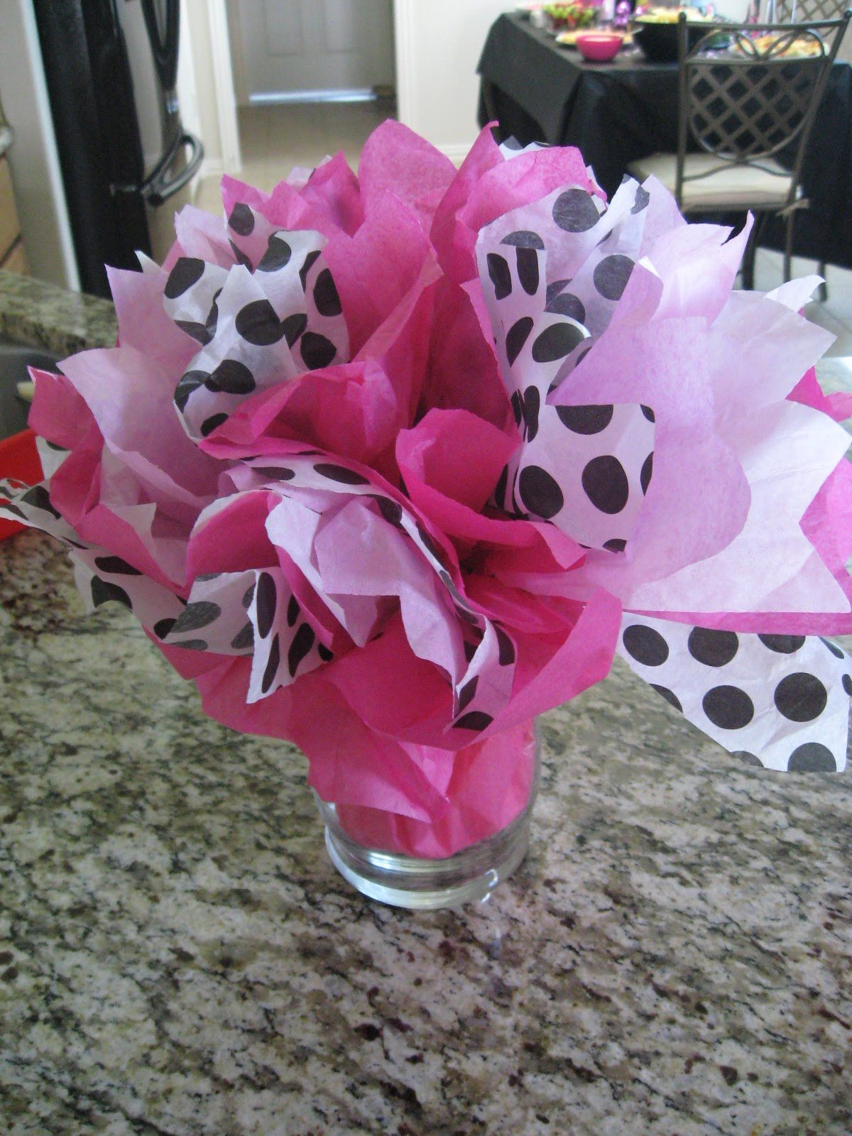 cute and simple...girl baby shower table decorations ...