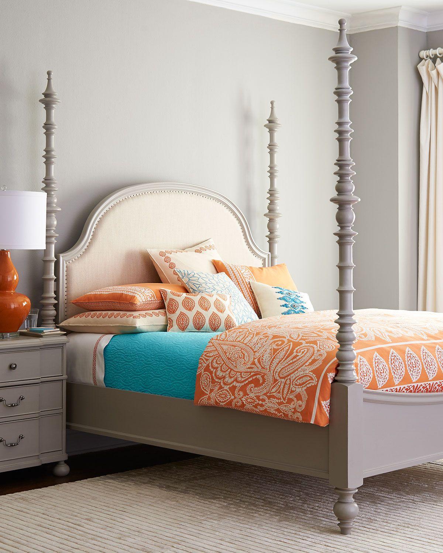 Argos Queen Bed Light Grey Neiman Marcus