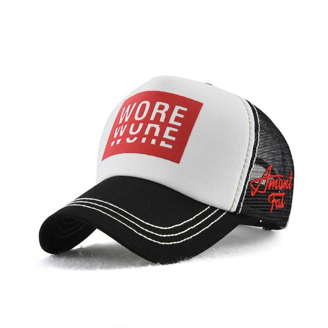 cb6efacad82 TOHUIYAN Mens Trucker Hat Letters Print Casquette Baseball Cap Hip Hop  Summer Mesh Hat Women Adjustable
