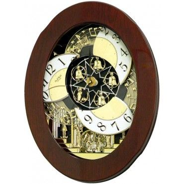 Rhythm Grand Nostalgia Entertainer Musical Motion Wall Clock 4mh838wd06 Clock Wall Clock World Clock