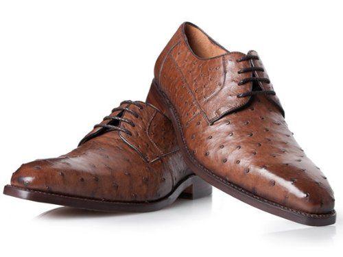 Luxus Schuhe in Braun No. 430 Straußenleder Schuhe: Amazon