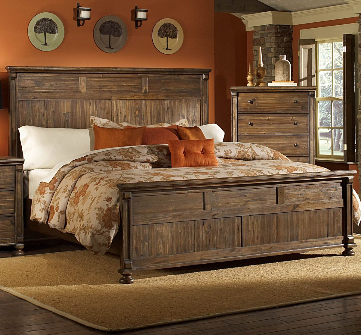 Bedroom Decor With Images Rustic Bedroom Sets Rustic Bedroom