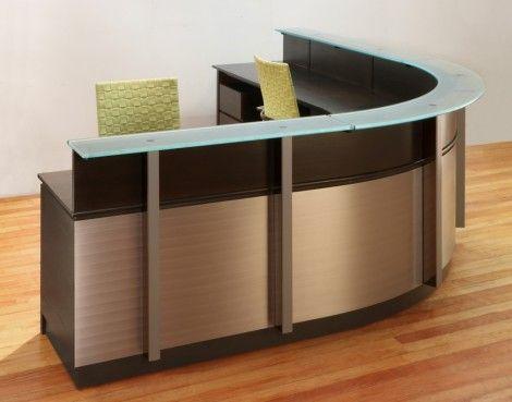 Wrap Around Reception Desk Curved Reception Desk Modern