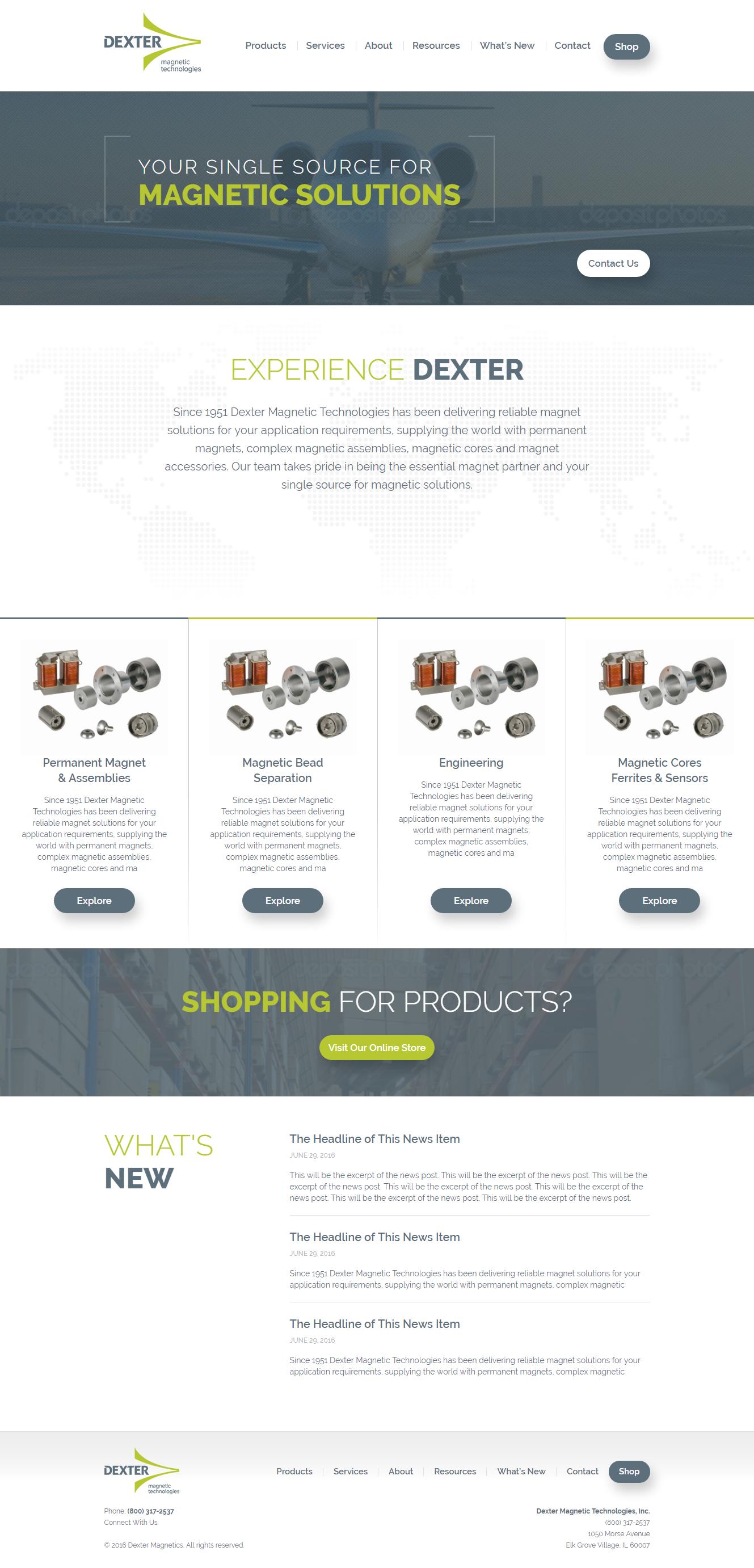 Dexter Magnetics Graticle Design Longview Washington Wordpress Web Design Website Design Design
