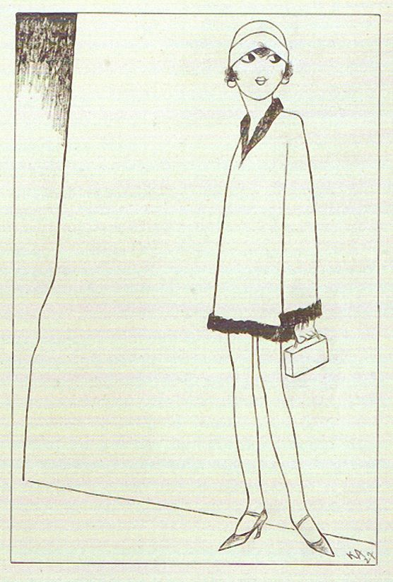 Karl Arnold, Nuttchens Abendlied 1927.