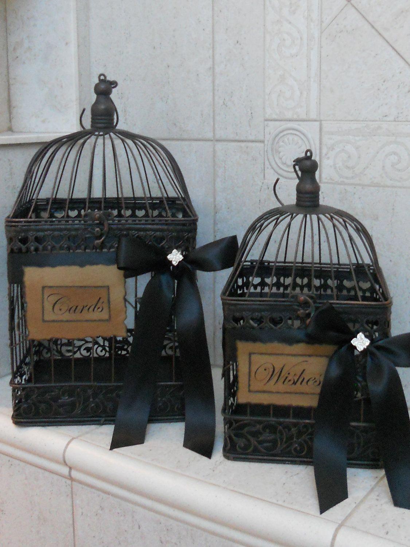 Birdcage Wedding Card Holder/Wishes Holder by YesMoreFunk on Etsy, $95.00