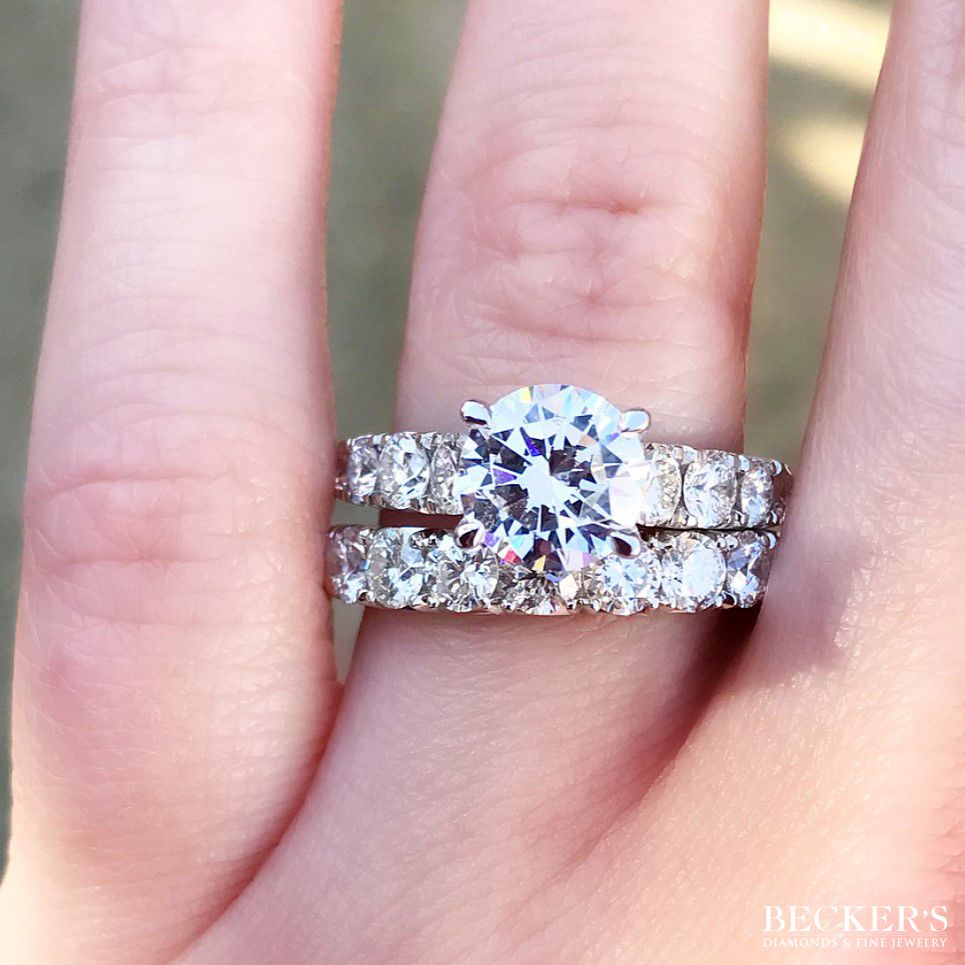 What do you think of this matched wedding set? # #bling #blingbling ...