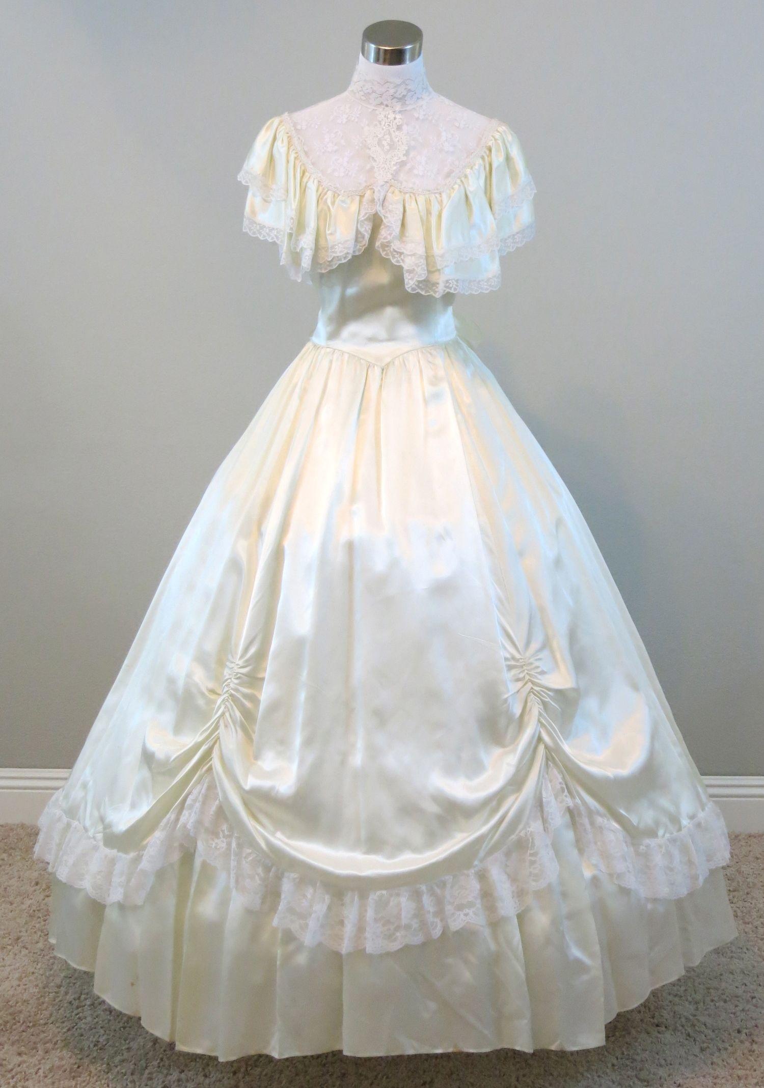Ivory Ball Gown (waist - 28 1/2\