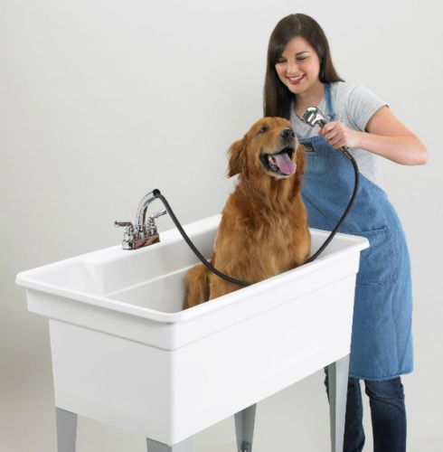 Utility Tub Laundry Sink With Faucet Large Dog Bathing Station